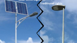 solar street light VS traditional lights