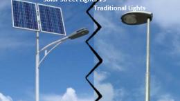 solar street light VS traditional lights