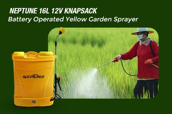 Neptune 16L 12V Knapsack Battery Operated Yellow Garden Sprayer
